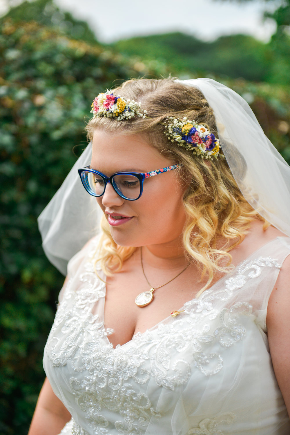Tamsin plans to wear her flower crown on their first wedding anniversary. -