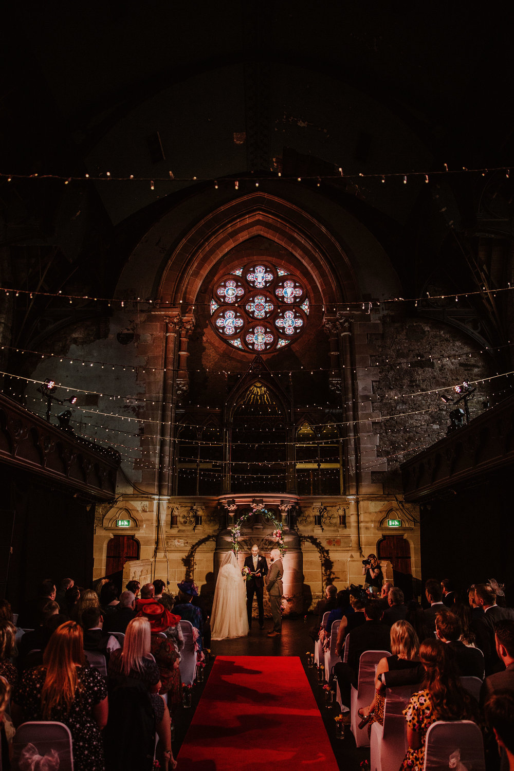 "Jade's fondness for Gothic architecture was perfectly represented in their choice of venue. ""I fell in love the second I saw it!"" Jade said. -"