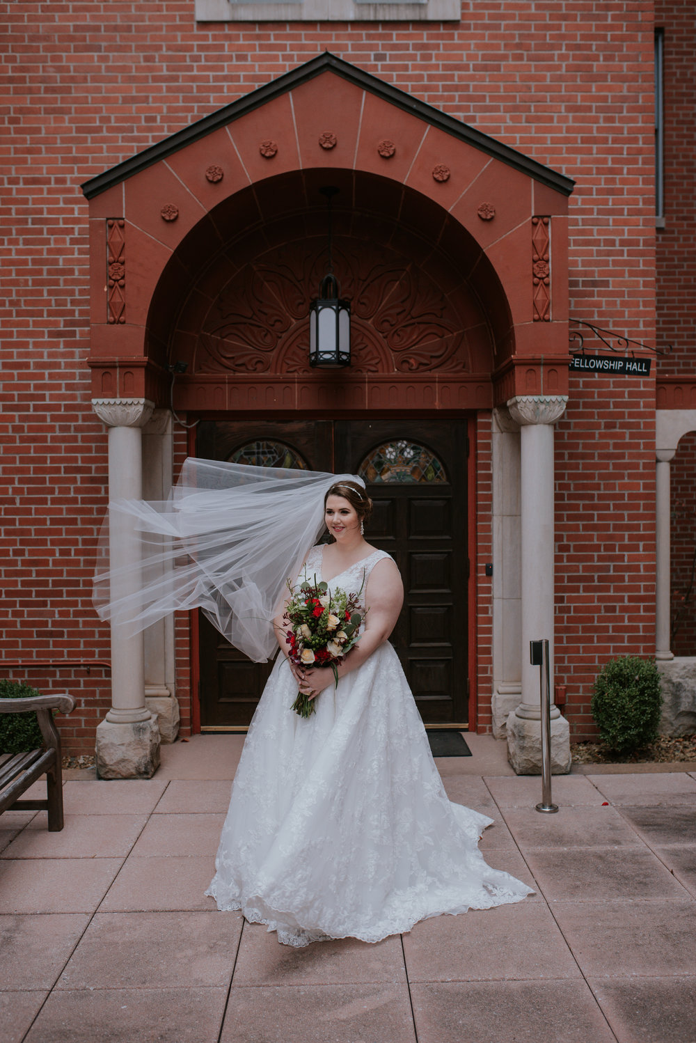Amanda found her beautiful ivory gown at  Low's Bridal  in Arkansas.